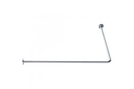 Tubo reggitenda ad angolo 90°, 1150 x 800 mm, Ottone Nichelato cromato, Ø 16 mm