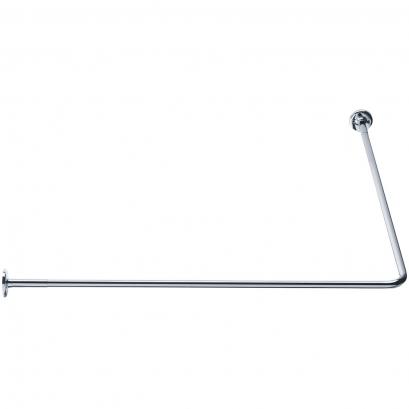 Porte-rideaux d'angle 90°, 900 x 900 mm, Ø 16 mm