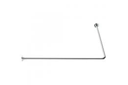 90° angled curtain rail, 800 x 800 mm, White Epoxy-coated Steel, tube Ø 16 mm