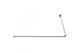 90° angled curtain rail, 1000 x 1000 mm, White Epoxy-coated Steel, tube Ø 16 mm