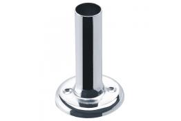 Piastrina tubo reggitenda, 85 mm, Ottone Nichelato cromato, Ø 58 mm