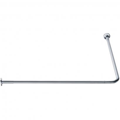 Porte-rideaux d'angle 90°, 800 x 800 mm, Ø 20 mm