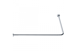 90° angled curtain rail, 800 x 800 mm, Chrome and nickel-plated Brass, tube Ø 20 mm