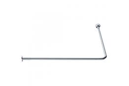 Tubo reggitenda ad angolo 90°, 800 x 800 mm, Ottone Nichelato cromato, Ø 20 mm